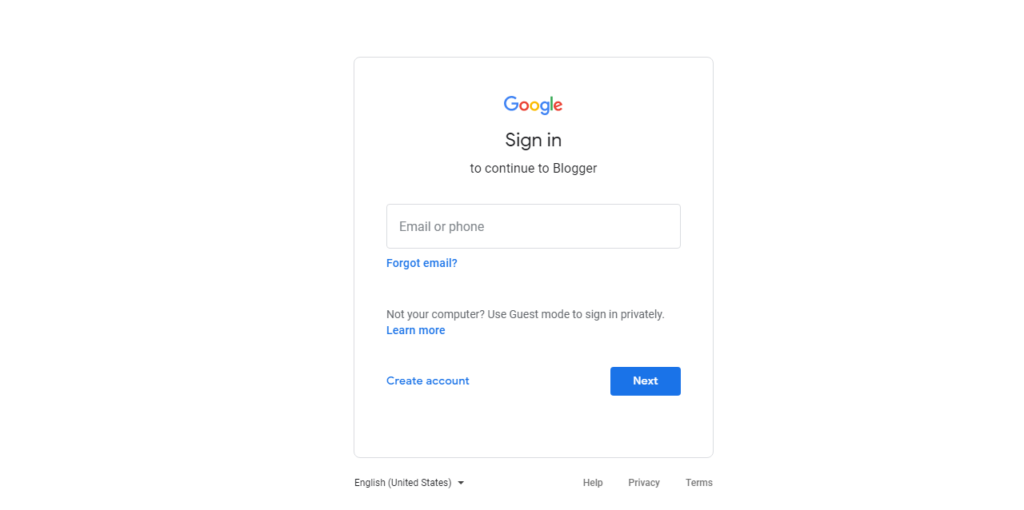 gmail log in